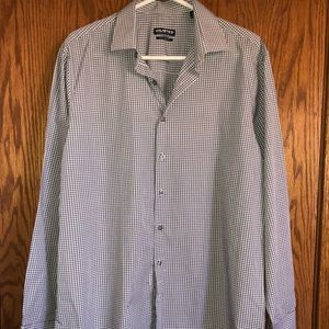 Kenneth Cole Unlisted Men Dress Shirt Slim Fit Lg